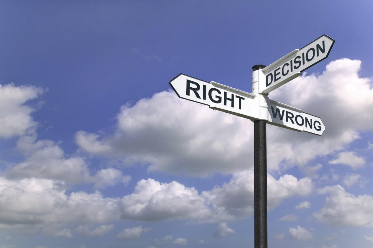 bonnes et mauvaises décisions