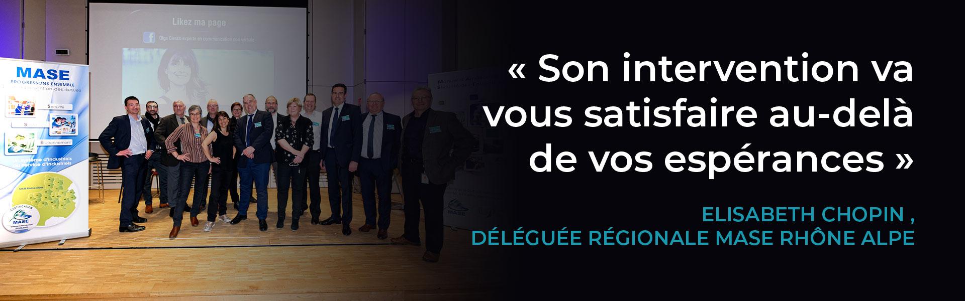 Conférence sur le langage du corps d'Olga Ciesco pour MASE Rhône Alpes