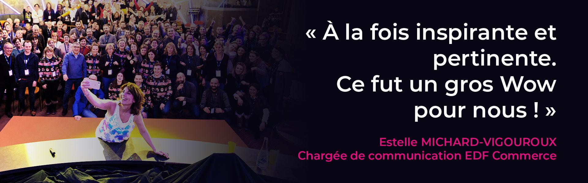Conférence sur le langage du corps d'Olga Ciesco pour EDF Commerce